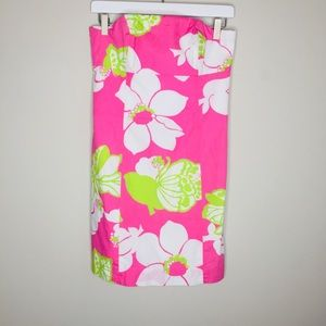 Tropical Pink Lilly Pulitzer Tie Back Strapless